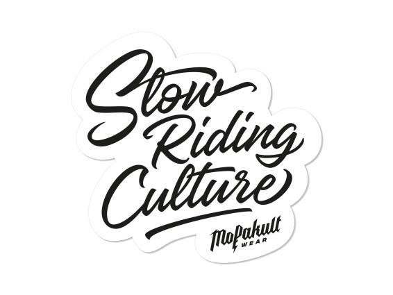 Aufkleber «Mofakultwear - Slow Riding Culture» 90 x 85 mm
