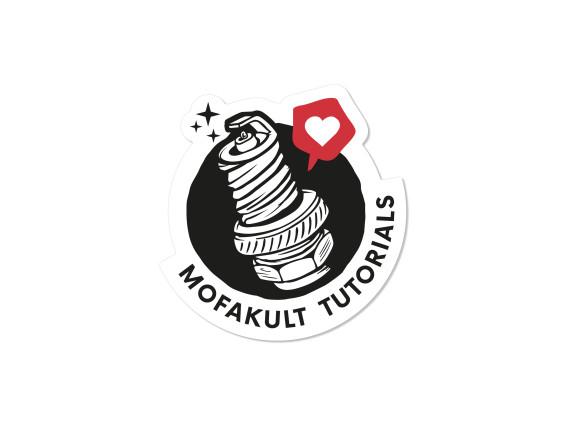 Aufkleber «Mofakult Tutorials» Ø 40 mm