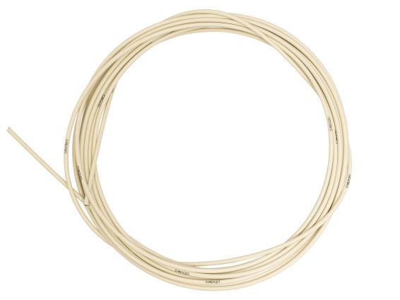Kabelhülle Ø 5 mm creme (10 Meter Rolle) PTFE-gefettet