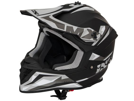 Crosshelm MX schwarz / grau matt