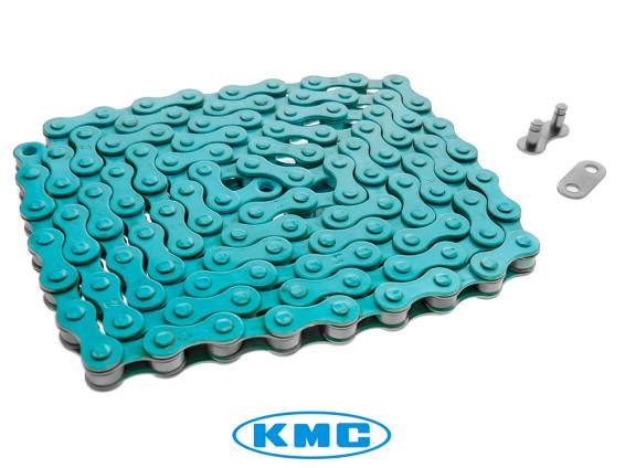 KMC Tretkette hellblau universal