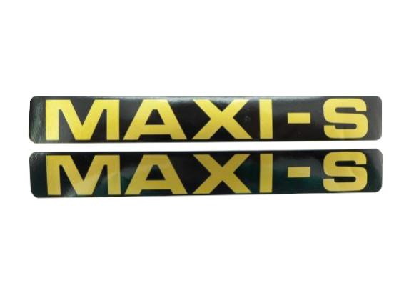 """MAXI-S"" Aufkleber gold"