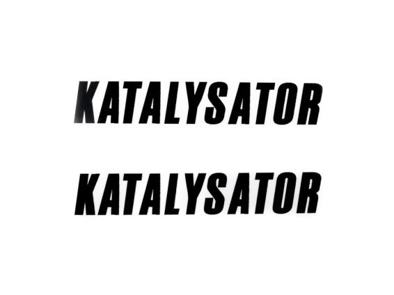 'Katalysator' Kleber schwarz (Paar)