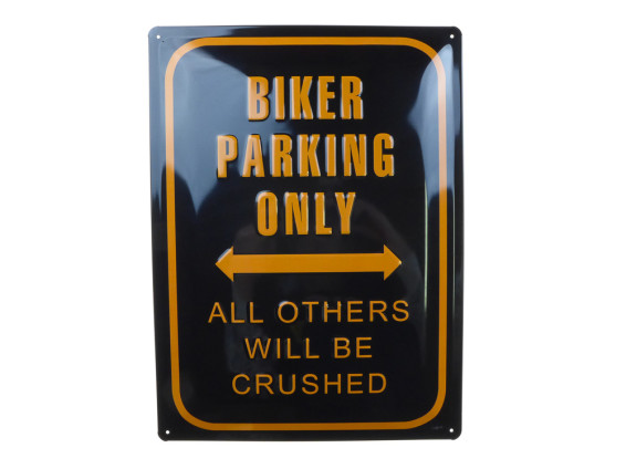 'Biker parking only' Blechschild