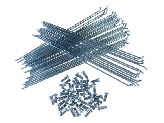 """17"""" Speichenset Stahl verzinkt inkl. Nippel (135°)"""