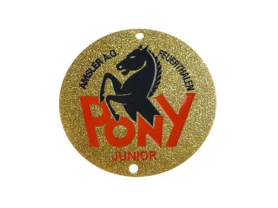 """""""Pony"""" Markenschild universell (flach)"""
