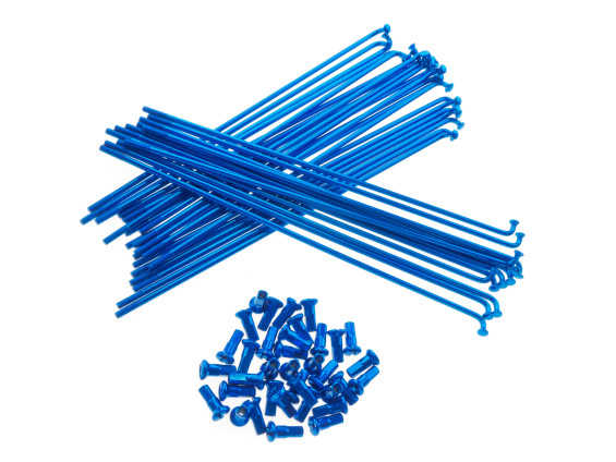 "19"" Speichenset blau inkl. Nippel (2.9 x 212 mm)"