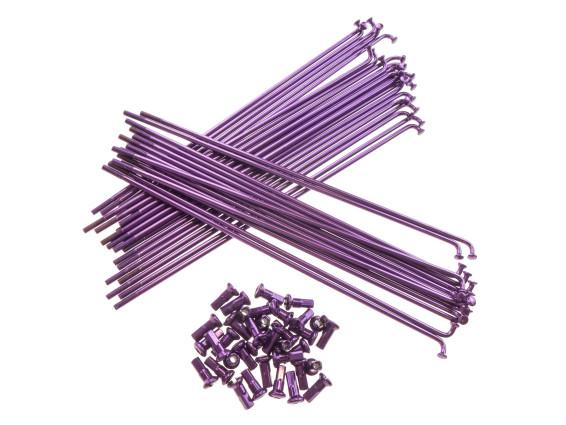 """19"""" Speichenset violett inkl. Nippel (2.9 x 212 mm)"""