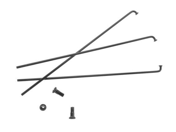 """19"""" Speiche einzeln schwarz inkl. Nippel (2.9 x 212 mm)"""