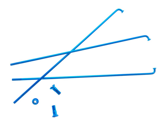 "19"" Speiche einzeln blau inkl. Nippel (2.9 x 212 mm)"