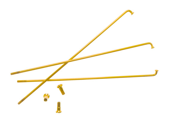 "19"" Speiche einzeln gold inkl. Nippel (2.9 x 212 mm)"