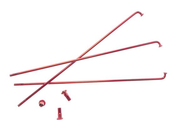 """17"""" Speiche einzeln rot inkl. Nippel (2.9 x 188 mm)"""