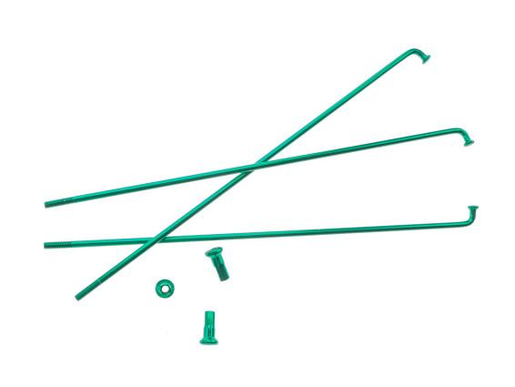 """17"""" Speiche einzeln grün inkl. Nippel (2.9 x 188 mm)"""