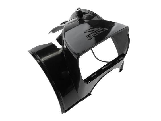 Abdeckung & Scheinwerfergehäuse Solex 3800 schwarz