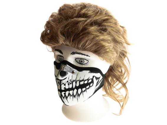 Gesichtsmaske Skull schwarz