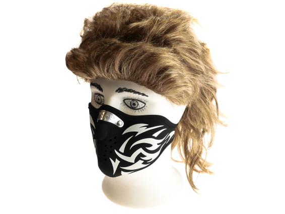 Gesichtsmaske Tribal Typ 1 schwarz