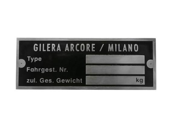 Gilera Arcore / Milano Typenschild