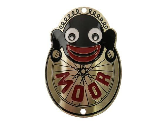 """Moor"" Markenschild am Steuerrohr (gebogen)"