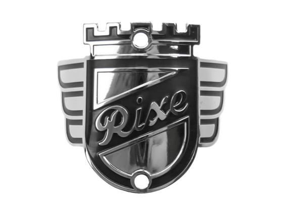 """""""Rixe"""" Markenschild am Steuerrohr (gebogen)"""