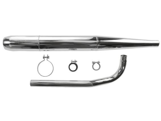 Auspuffanlage Zigarre (Ø 32 / 70 mm) Sachs 503 schwarz / Chrom