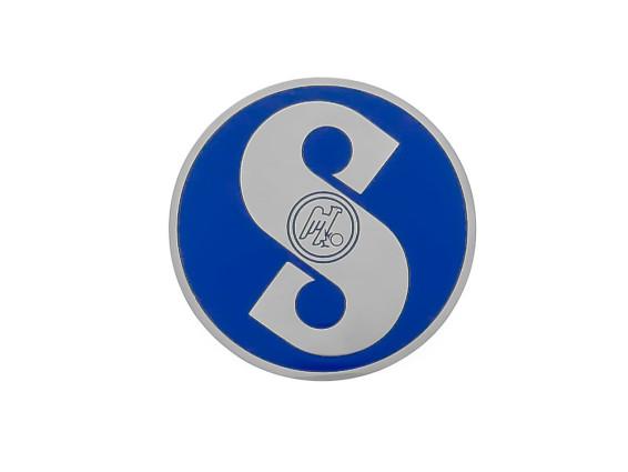 Sachs Emblem blau (geätztes Blech)