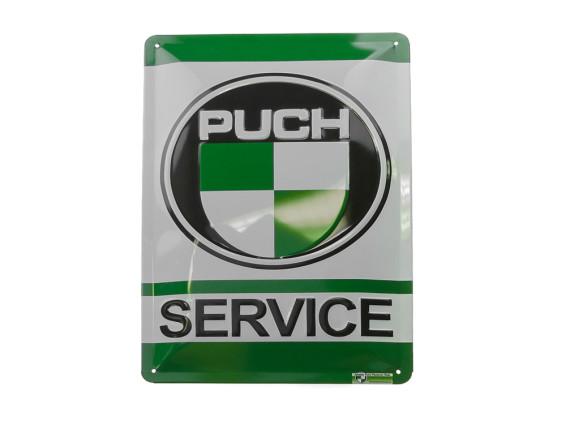 """""""Puch-Service"""" Blechschild"""