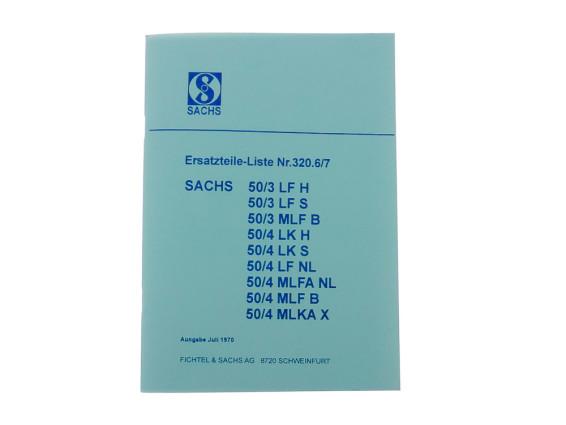 Ersatzteil-Liste Sachs 50/3 LF, MLF, 50/4 LK, LF, MLFA, MLKA Motoren