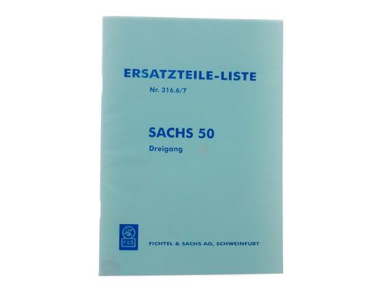 Ersatzteil-Liste Sachs 50 Dreigang Motoren