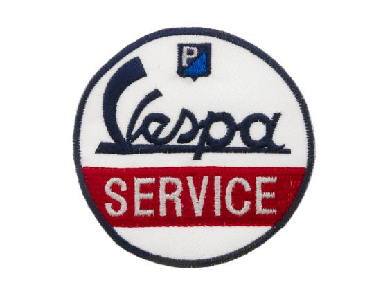Aufnäher Vespa Service d=74 mm
