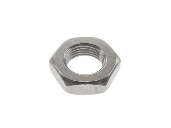 Achsmutter M12x1 Inox halbhoch (6 mm)