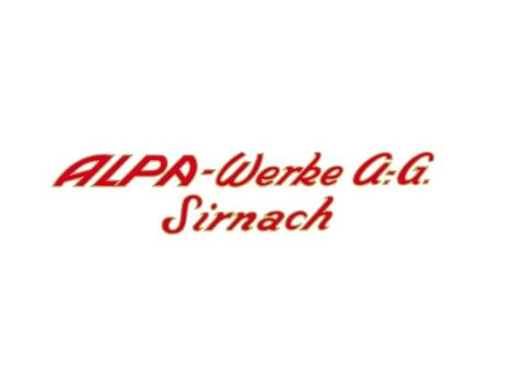 Aufkleber Alpa-Werke AG Sirnach klein