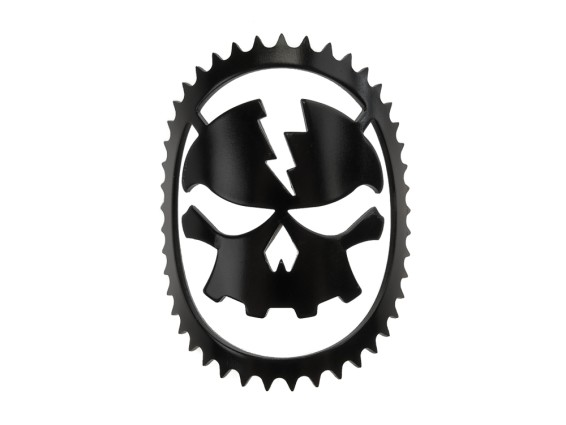 Lenkkopfschild (Kleber) Skull Head schwarz
