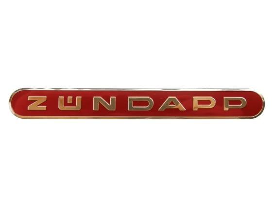 Zündapp Schriftzug gold/rot (selbstklebend)