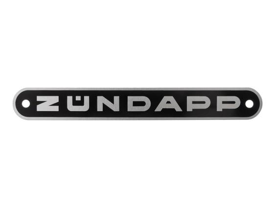 """Zündapp"" Blechschild schwarz"