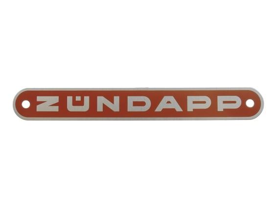 """""""Zündapp"""" Blechschild orange"""