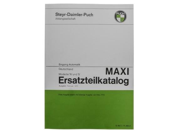 Ersatzteilkatalog Puch Maxi S, N (DE)