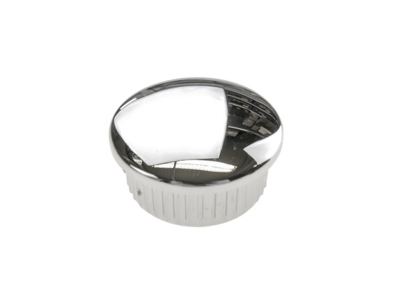Gabelrohrzapfen Kunststoff Ø24 mm Chrom (P8213)