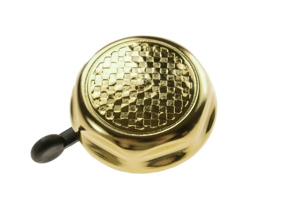 Glocke Flechtwerk Gold