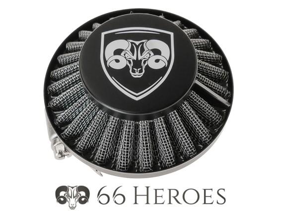 Luftfilter Pilz Gitter schwarz Dell'Orto SHA (Ø=60 mm) 66HEROES