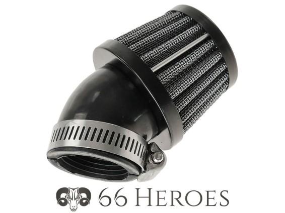 Luftfilter Pilz 45° Gitter schwarz Dell'Orto PHBG (Ø=34 mm) 66HEROES