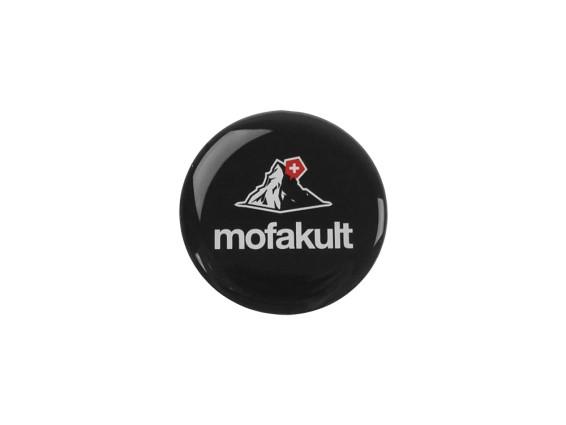 Aufkleber Mofakult schwarz 3D Silikon Ø34 mm