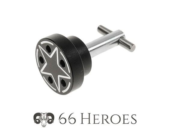 Bolzen Seitenschutz 20 mm Alu schwarz Piaggio Star