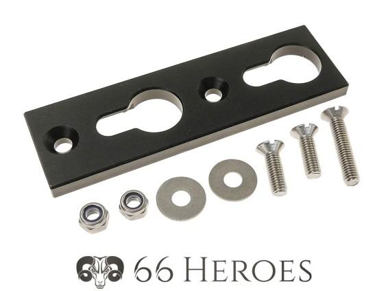 66Heroes Grundplatte Wechselnummer-Halterung Alu