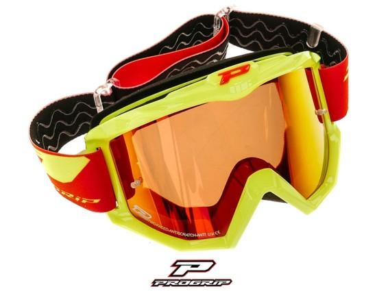 ProGrip Brille MX 3201 Raceline gelb orange verspiegelt
