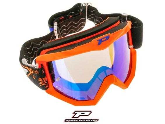 ProGrip Brille MX 3204 Raceline orange matt verspiegelt