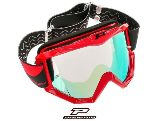 ProGrip Brille MX 3201 Raceline rot verspiegelt