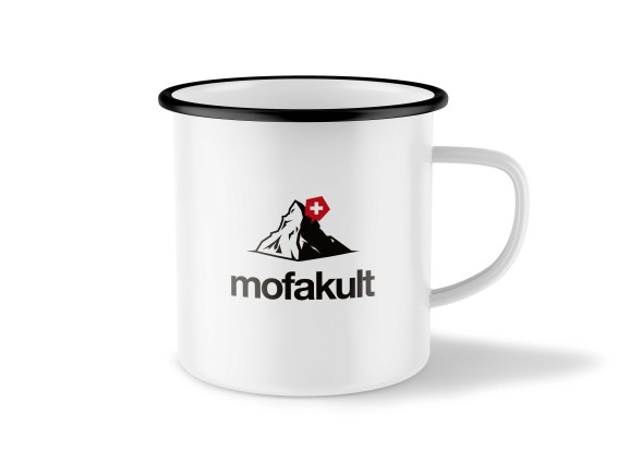 Mofakult Tasse Emaille weiss