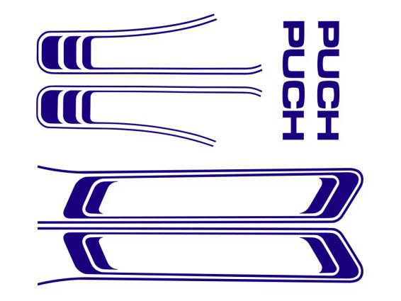 Puch Maxi Aufkleber Set blau (1A Qual.)
