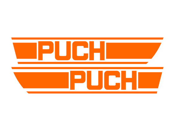 Tankkleber Puch X30 (orange)