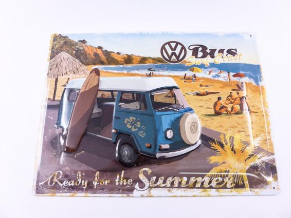 """VW Bus - Ready for the Summer"" Blechschild"
